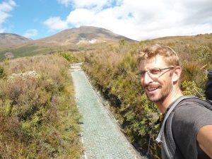 Neuseeland-Tongagiro-Aufstieg