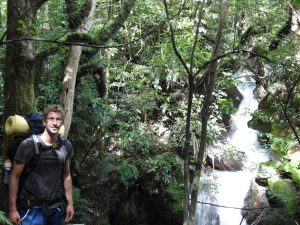Neuseeland-Tongagiro-Busch-Wasserfall
