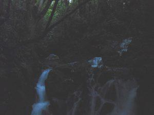 Neuseeland-Tongagiro-Wasserfall-Zelt-Nacht