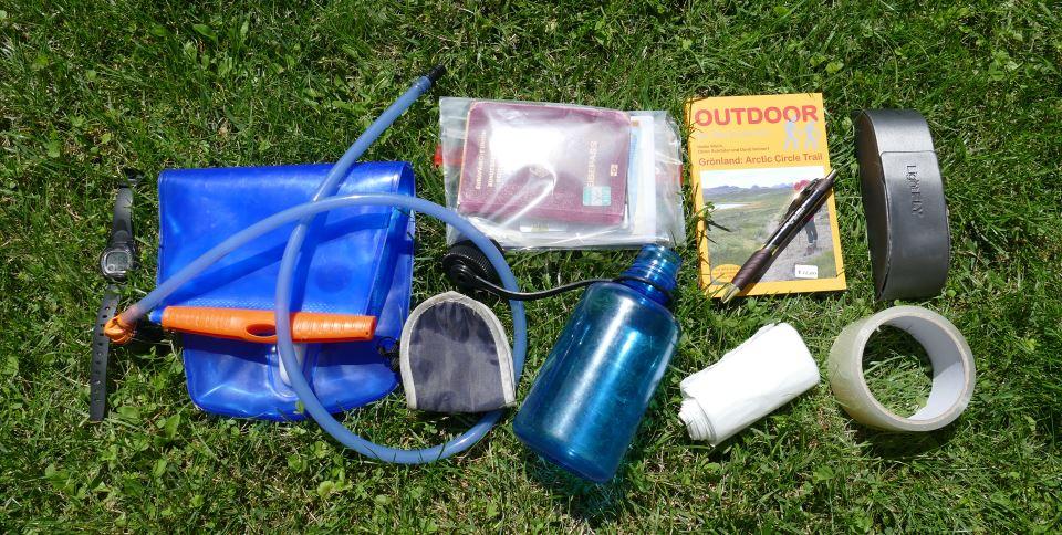 Packliste-Fernwandern-Trinkflasche-Kleinzeug