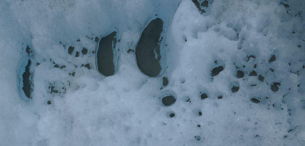 Grönland-Inlandeis-Schlamm