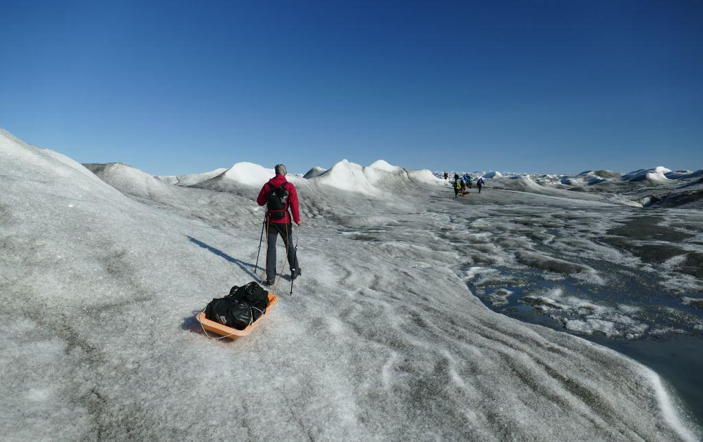 Grönland-Inlandeis-Schlitten