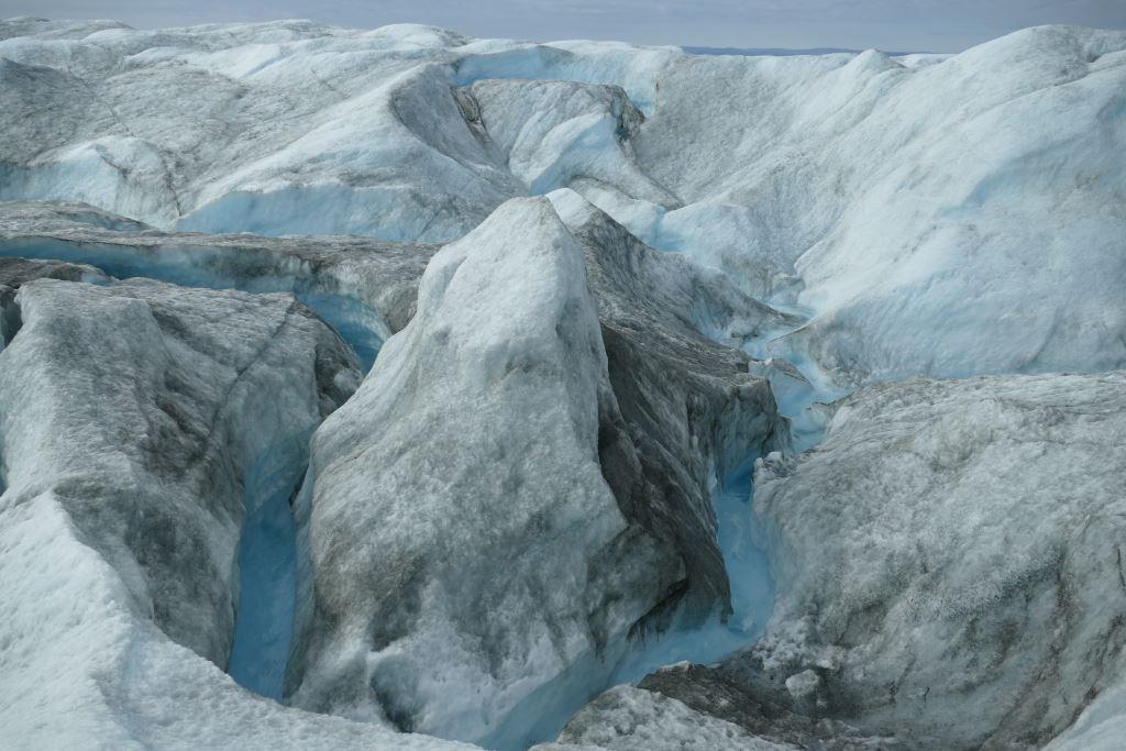 Grönland-Inlandeis-Schlucht