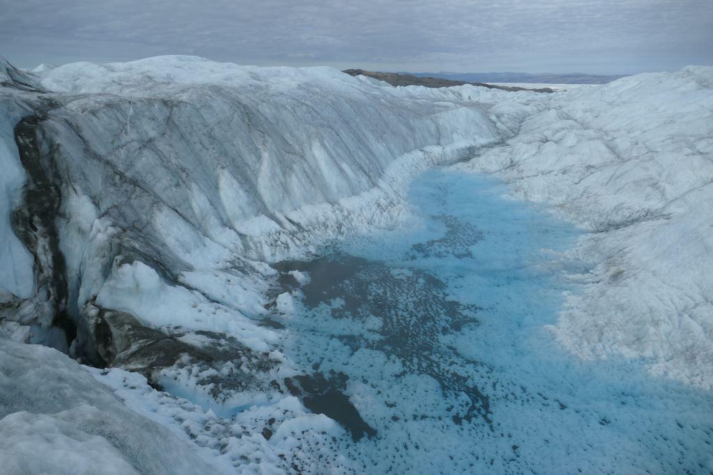 Grönland-Inlandeis-See