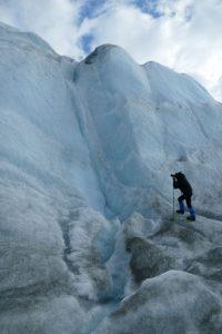 Grönland-Inlandeis-Wasserfall