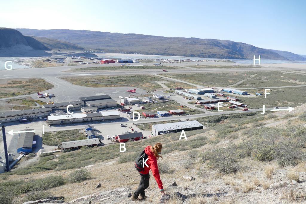 Grönland-Kangerlussuaq-Übersicht