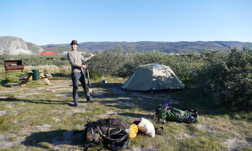 Grönland-Kangerlussuaq-Zeltplatz