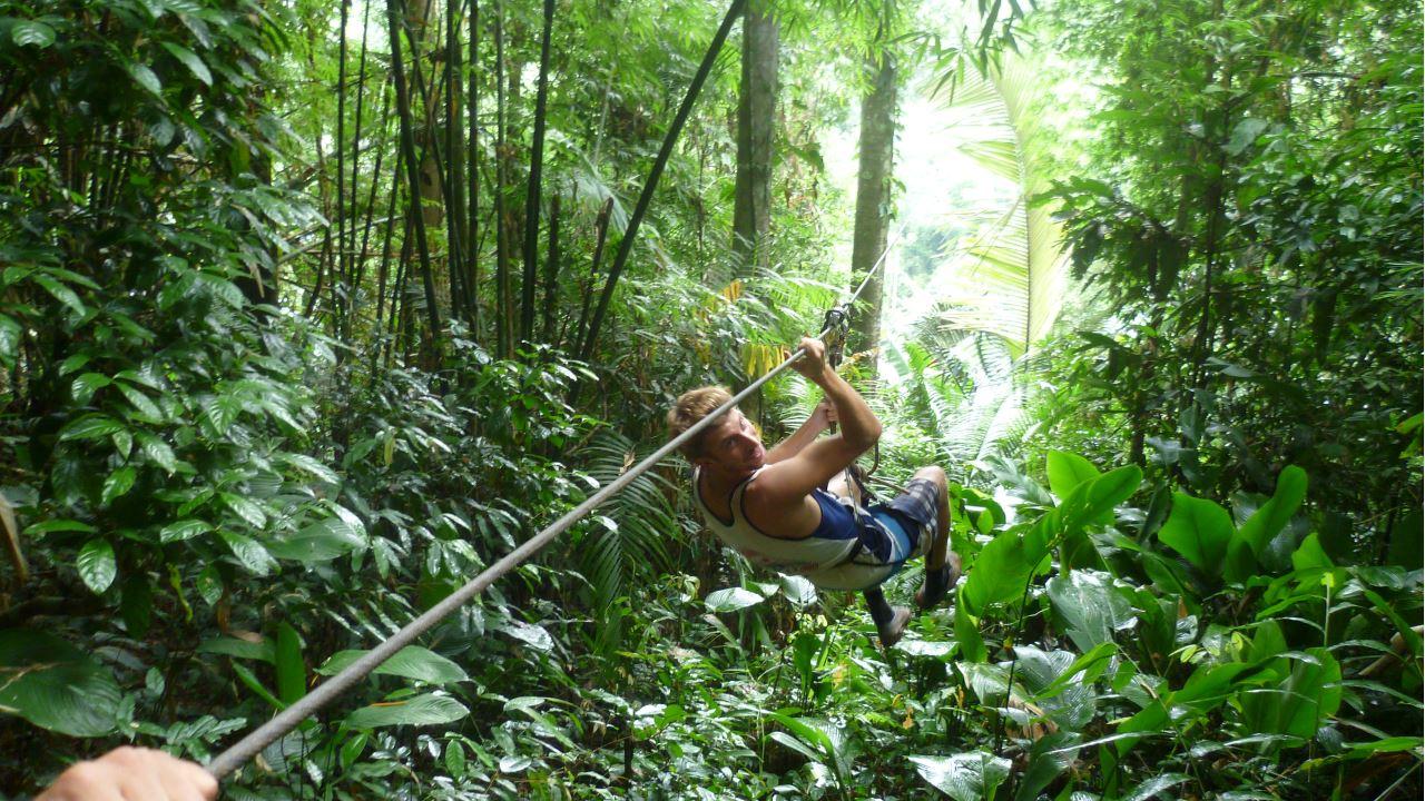 Die Gibbon Experience in Laos - Mit der Zipline ins Baumhaus