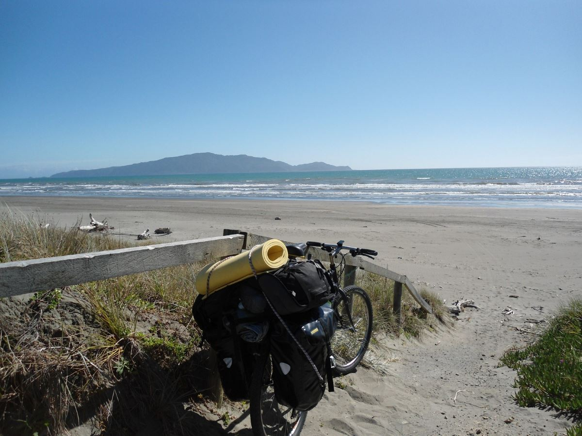 Bonusland-Fahrrad-Strand