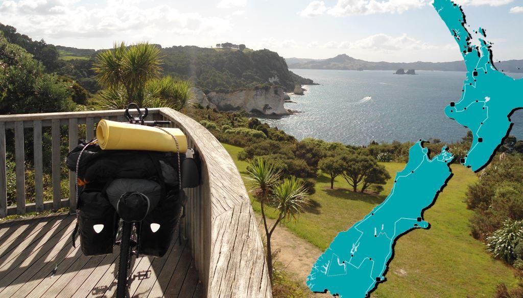 Mit dem Fahrrad durch Neuseeland - Meine Route durch mein Bonusland